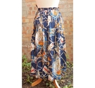 The Edinburgh Collection 80's nautical print skirt multicoloured Size: 12