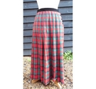 Vintage Viyella wool tartan pleated skirt multicoloured Size: 10