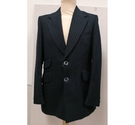 Hardy Amies Vintage wool pinstripe suit navy Size: S