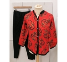 Bonsoir for Hardy Amies Pyjamas Red and Black Size: S