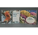 Two Vintage Brooke Bond Tea Card Albums With All Cards Attached - 'British Wildlife' & 'Wild Flowers