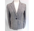 Marella Houndstooth Check Smart Jacket Black/White Size: 8