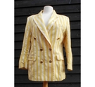 Vintage St Michael striped wool blazer yellow & cream Size: 14