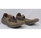 Shuropody Woven Bronze Shoes Bronze Size: 6