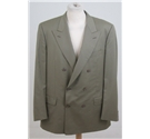 DUrban for Harrods double breasted jacket beige/green Size: XL