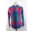 Joules Checked Slim Fit Shirt Red/Blue Mix Size: S