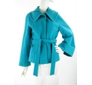 Betty Jackson Black Wool and Cashmere mix coat Aquamarine Size: 12