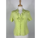 Xuecuer Vintage Top Green Size: L