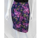 Laura Ashley short fitted lined skirt floral pattern Size: 12