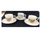 3 Cups and Saucers Commemorating the 1935 Jubilee of King George and Queen Mary