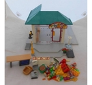 Vintage PLAYMOBIL City Life Corner Store Set 7687 w/ Grocery Shop Interior Set 7777
