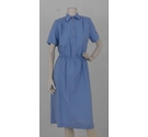 Griff '80s Brand New Work Dress Pale Blue Size: 12