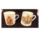 2 Mugs Commemorating the 1937 Coronation of King George VI