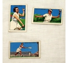 Vintage Park Drive Cigarette cards, women tennis champions 1930's. 3 cards numbers 7, 22, 24