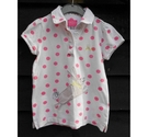 Joules Polo Shirt white & pink Size: 7 - 8 Years