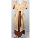 Handmade Historical Fancy Dress Costume Peach & Orange Size: Large