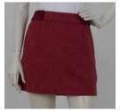 Jack Wills Herringbone Pattern Wool Skirt Berry Red Size: 10