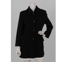 Jigsaw Faux Fur Collar Car Coat Black Size: 14