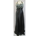LM Collection new halter neck maxi dress black & white Size: S