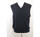 Greg Norman wool silk mix V neck slip over vest charcoal grey Size: M