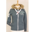 Superdry Track & Field Unisex zip-fronted hoodie Blue-Green Size: XS