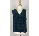 Weave of the Irish Waistcoat Blue/Red Tartan Size: L