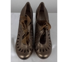 Hush Puppies Bow Tie Heeled Shoes Old Gold Size: 7