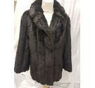no brand simulated fur jacket brown simulated Size: 16