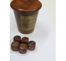 Handmade fair trade die and shaker with wooden dice