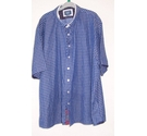 Bewley and Ritch Short Sleeved Shirt Blue Size: XXXL