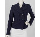 Mexx Double Breasted Jacket Navy Blue Size: 12