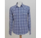 Barbour Long sleeve check shirt Blue white Size: S