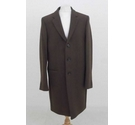 M&S Wool Blend Coat Chocolate Brown Size: L