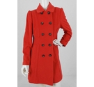 The Collection Wool Blend Coat Orange Size: 12