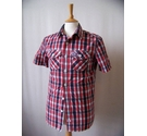 SuperDry Checked Shirt Red Size: S