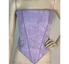 Unbranded Lavender Baroque Pattern Bodice Size 18