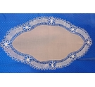 Vintage Style Table Protector with Crochet Lace