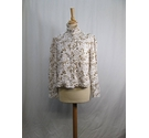 Freemans Vintage Blouse White and Brown Size: 16