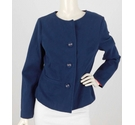 Boden Casual Cotton Jacket Navy Blue Size: 12