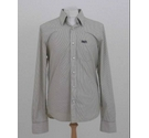 SuperDry Long sleeve stripe shirt Olive white Size: L