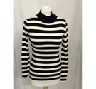 Scotch and Soda Long Sleeved Roll Neck Top Black and White Size: XS