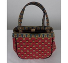 Unbranded Bag Red Patterned Size: Not specified