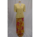 Country Casuals Skirt and Jacket Suit Yellow Size: 10