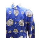 Kuxinglian Chinese Tang Suit Blue and Gold Size: XL