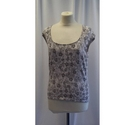 Planet Sleeveless top Grey Size: M