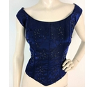 Dynasty Midnight Purple Bead Embellished Bodice Size L