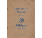 Instruction Manual for the MG Midget (Series TC) - original 1954 copy