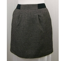 Crew Clothing Co Herringbone weave skirt Black mix Size: 12