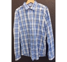 Boss slim-fit checked shirt blue Size: XL