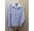Nicole Miller Long sleeved Shirt Blue & white Size: L